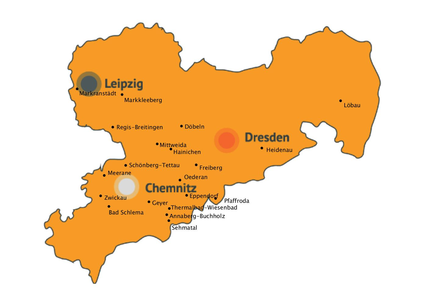 Leipzig Karte Sachsen.Standorte Cjd Sachsen